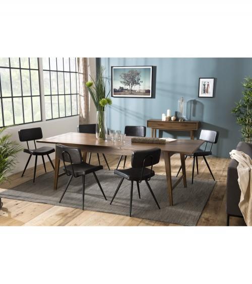 Mesa comedor extensible 200/240cm madera Mindi